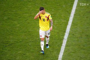 Лидер сборной Колумбии поплакал в одиночестве после досадного вылета команды с ЧМ-2018