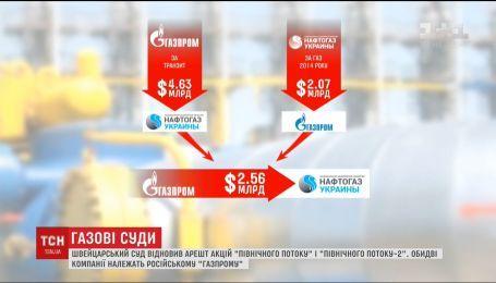 "Швейцарский суд вновь арестовал акции компаний ""Северный поток"" и ""Северный поток 2"""