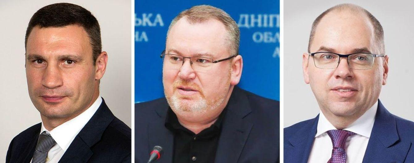 Кличко, Резніченко та Степанов очолили рейтинг голів облдержадміністрацій