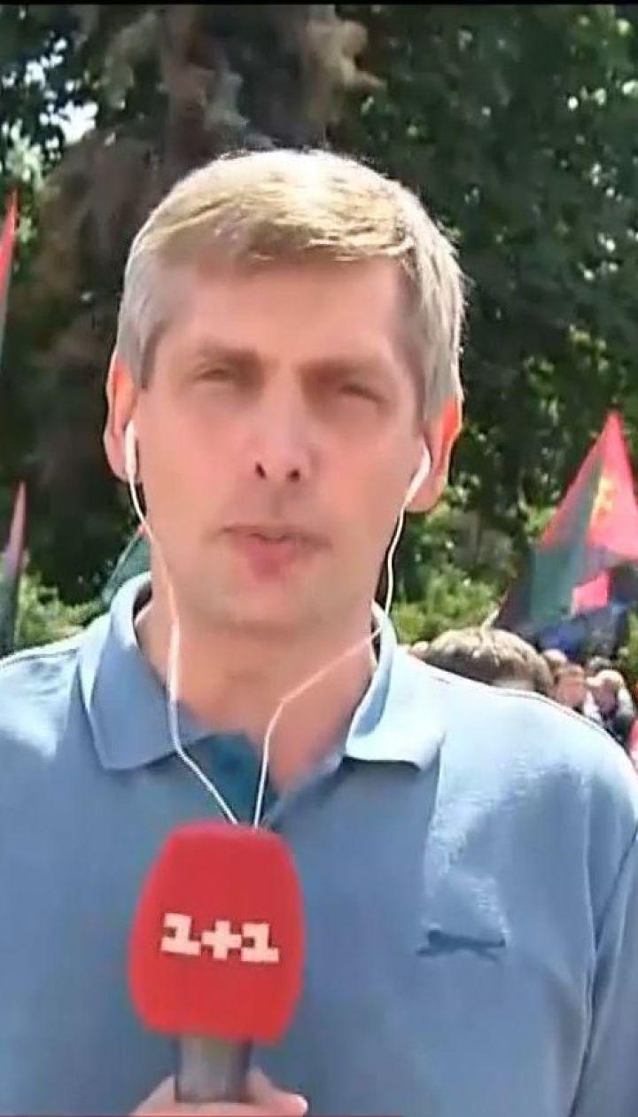 Сотни горняков съехались на акцию протеста, чтобы привлечь внимание ВР к проблемам угольной отрасли