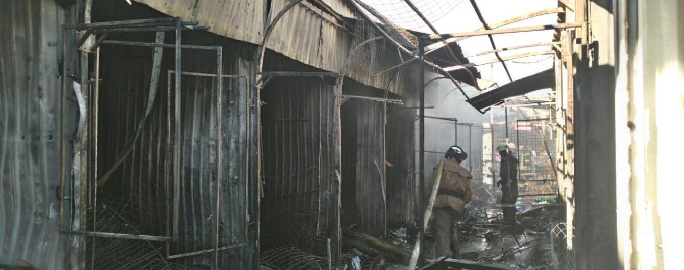 В Славянске огонь охватил Центральный рынок, есть пострадавшие