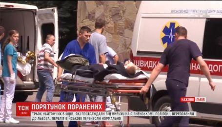 Львовские военные медики борются за жизнь троих раненых на Ровенском полигоне