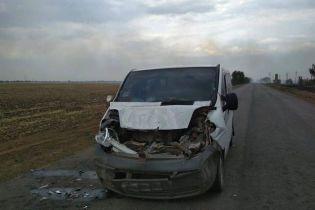 На Николаевщине из-за возгорания сухой травы столкнулись грузовик и микроавтобус