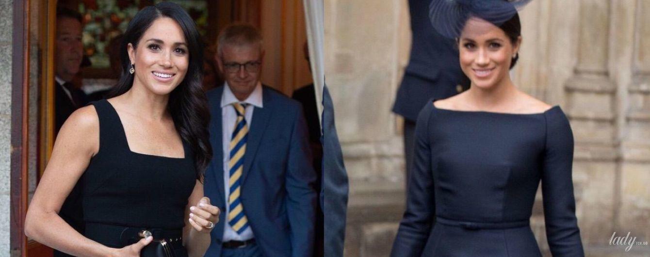 Dior против Emilia Wickstead: битва черных платьев герцогини Сассекской Меган