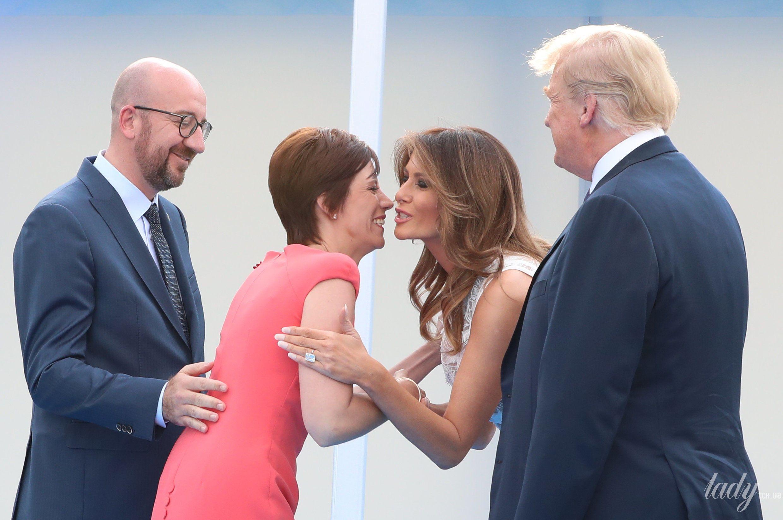 Мелания Трамп на саммите НАТО_2