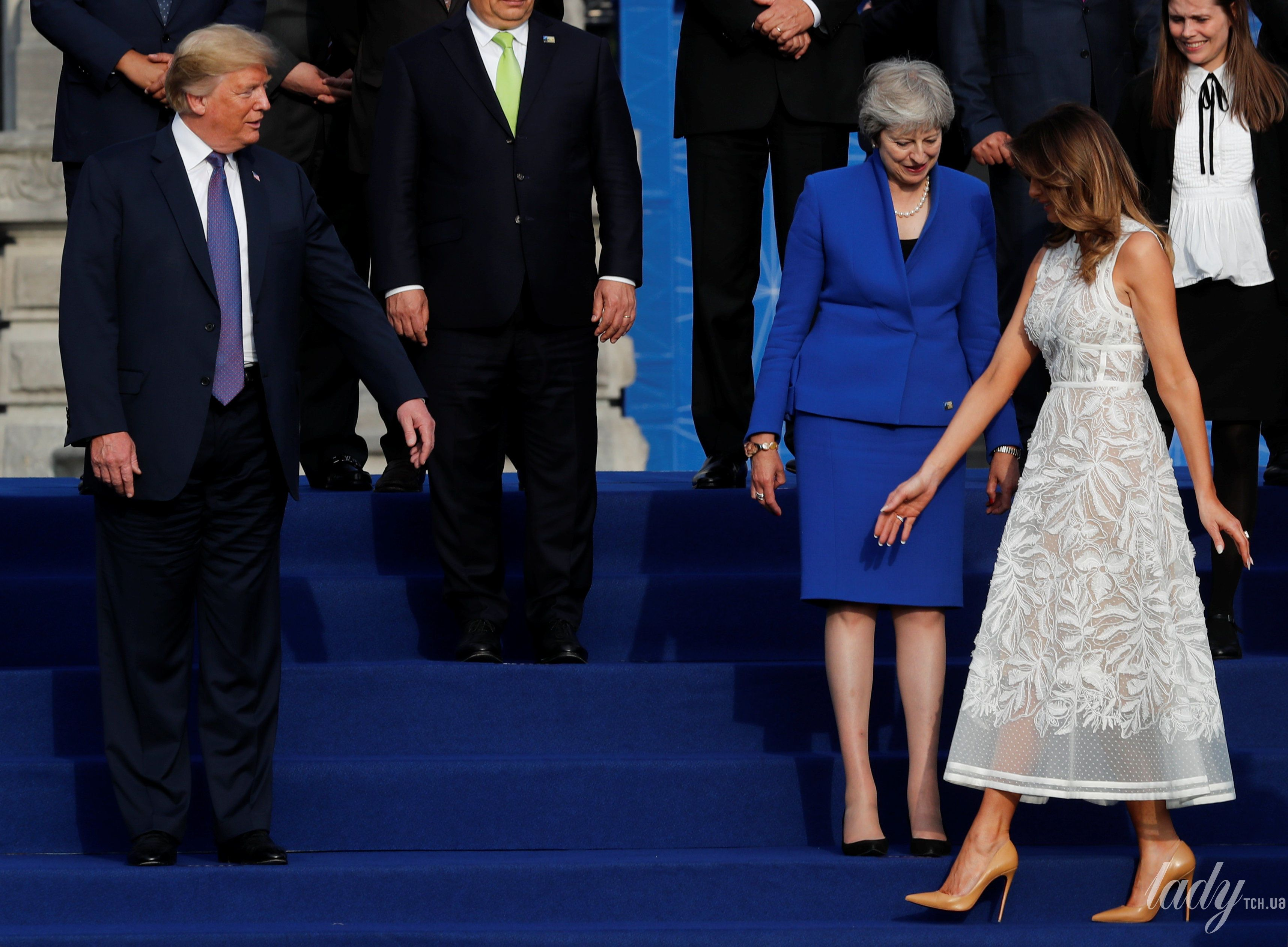 Мелания Трамп на саммите НАТО_15