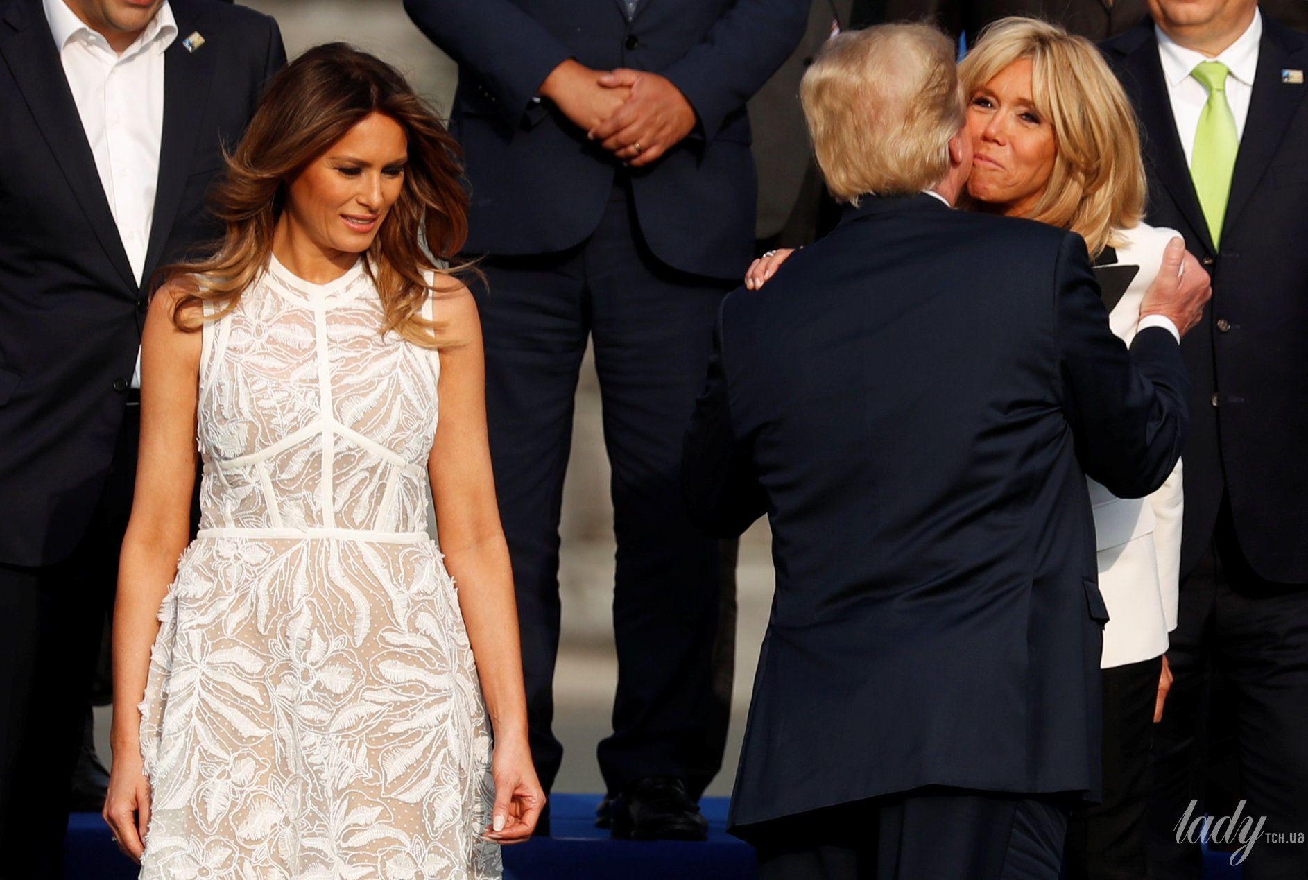 Мелания Трамп на саммите НАТО_16