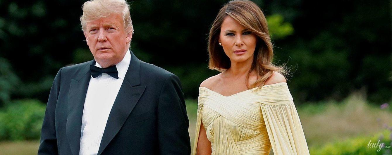 В роскошном вечернем платье: Мелания Трамп покоряет Лондон