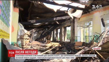На Одещині блискавка влучила в школу, на яку забули встановити громовідвід