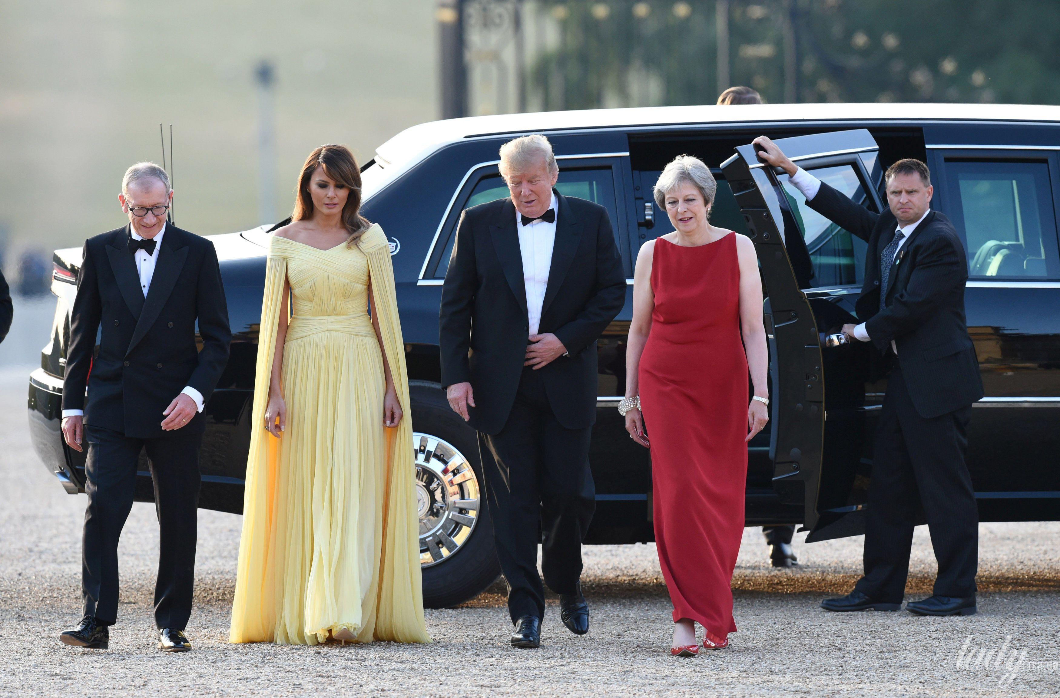 Тереза Мэй на встрече Трампами_9