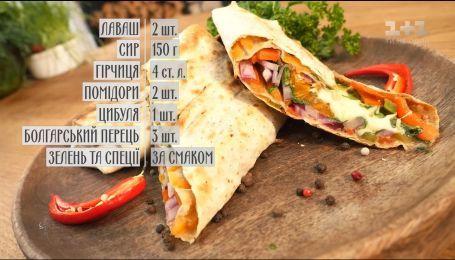 Лаваш з овочами на грилі - рецепти Сенічкіна