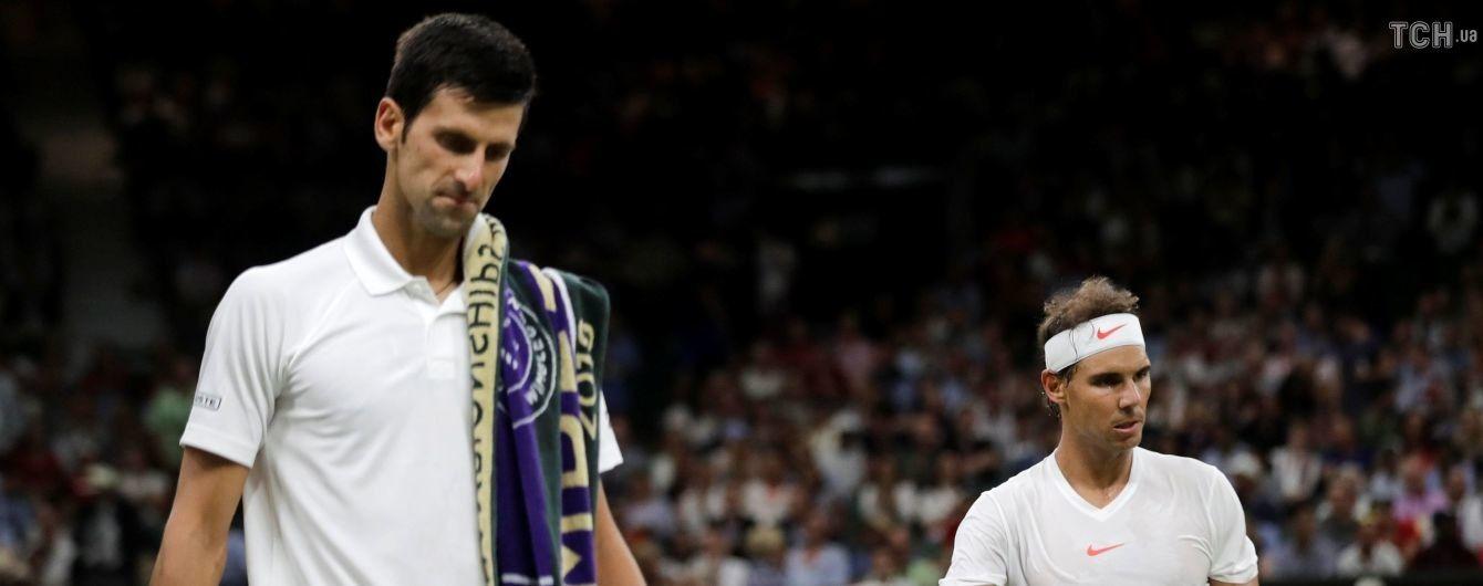 Матч Wimbledon Джокович – Надаль  перерваний