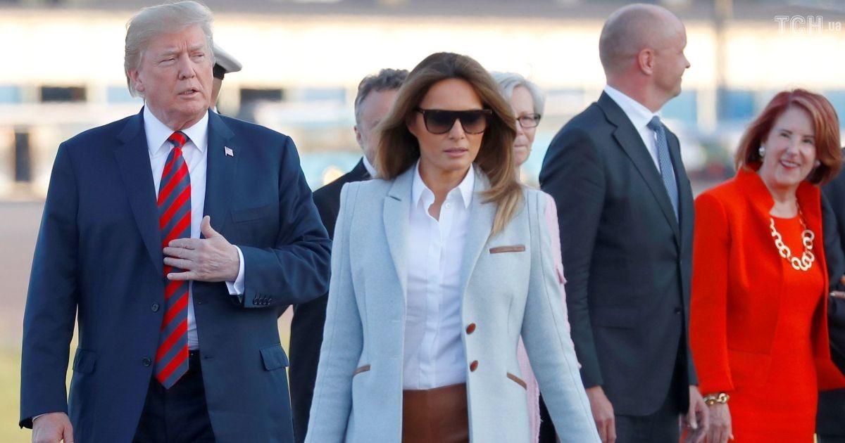 Борт № 1 и огромный кортеж: Трамп с супругой прибыл в Хельсинки