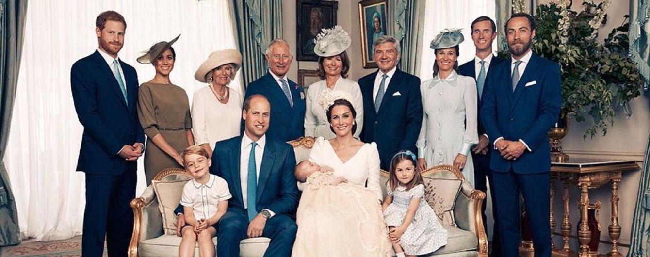 Кенсингтонский дворец опубликовал официальные снимки с крещения принца Луи Кембриджского