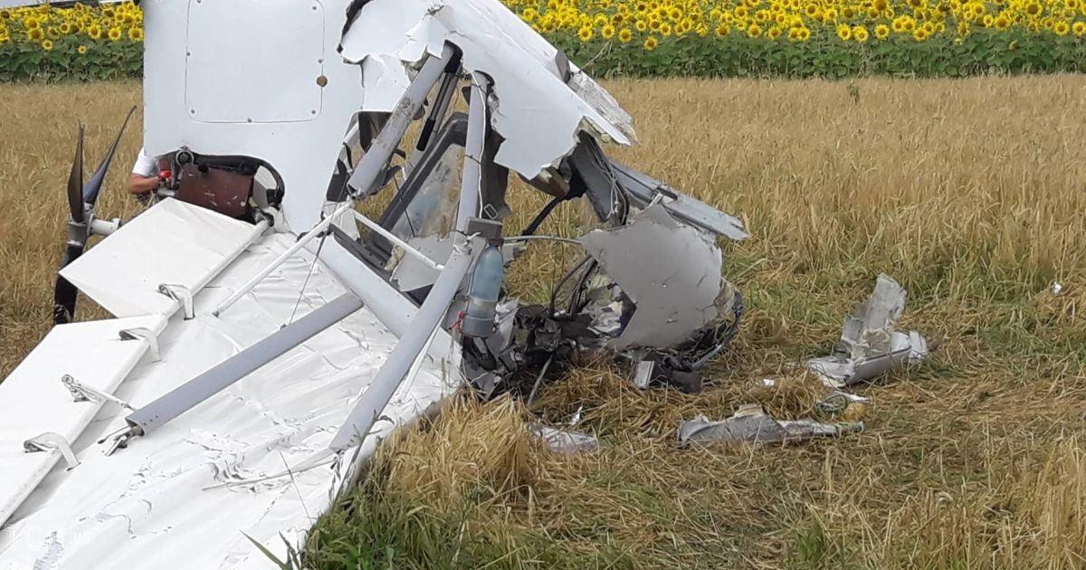 розбився літак на Сумщині @ Фото Оксани Солодовник/ТСН