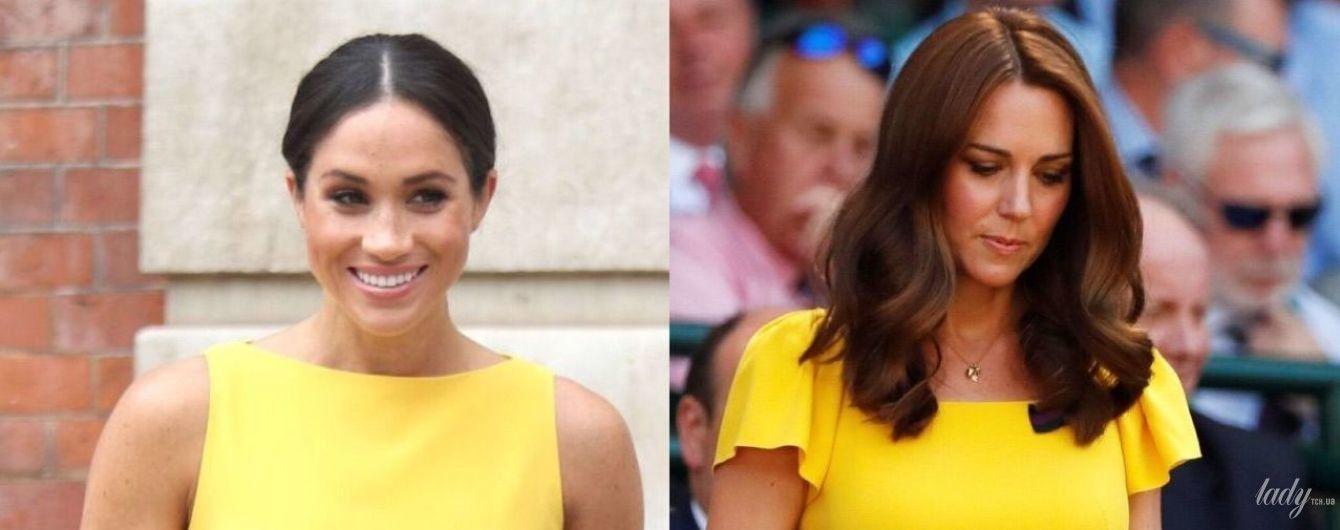 Битва жовтих суконь: герцогиня Кембриджська Кетрін vs герцогиня Сассекська Меган