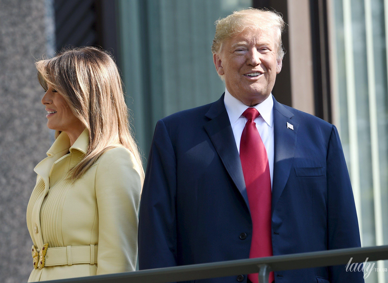 Дональд Трамп, первая леди Мелания Трамп, президент Финляндии Саули Ниинисто, его жена Дженни Хаукио_3