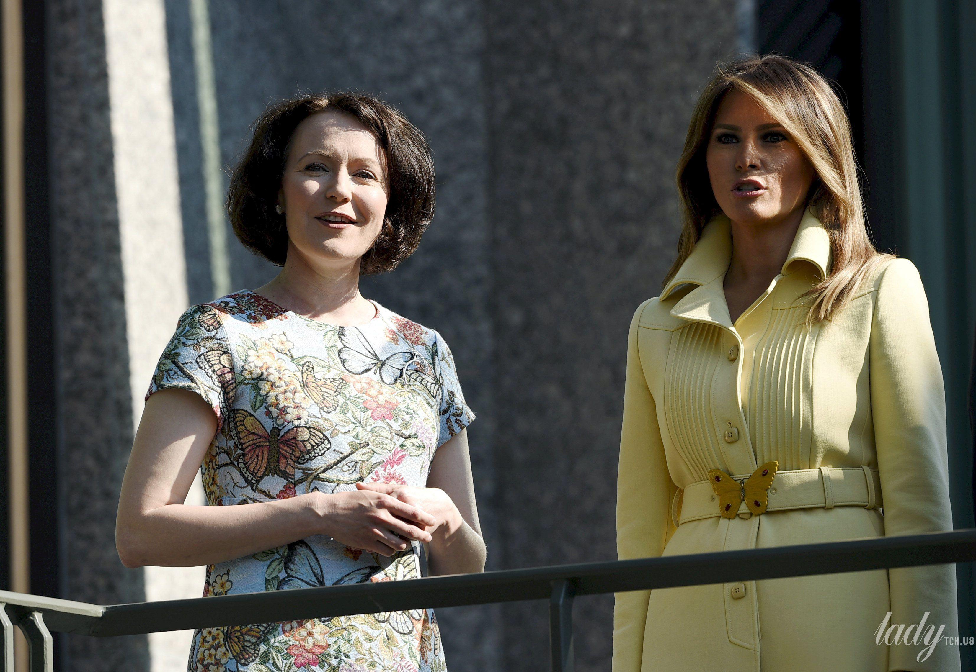 Дональд Трамп, первая леди Мелания Трамп, президент Финляндии Саули Ниинисто, его жена Дженни Хаукио_2
