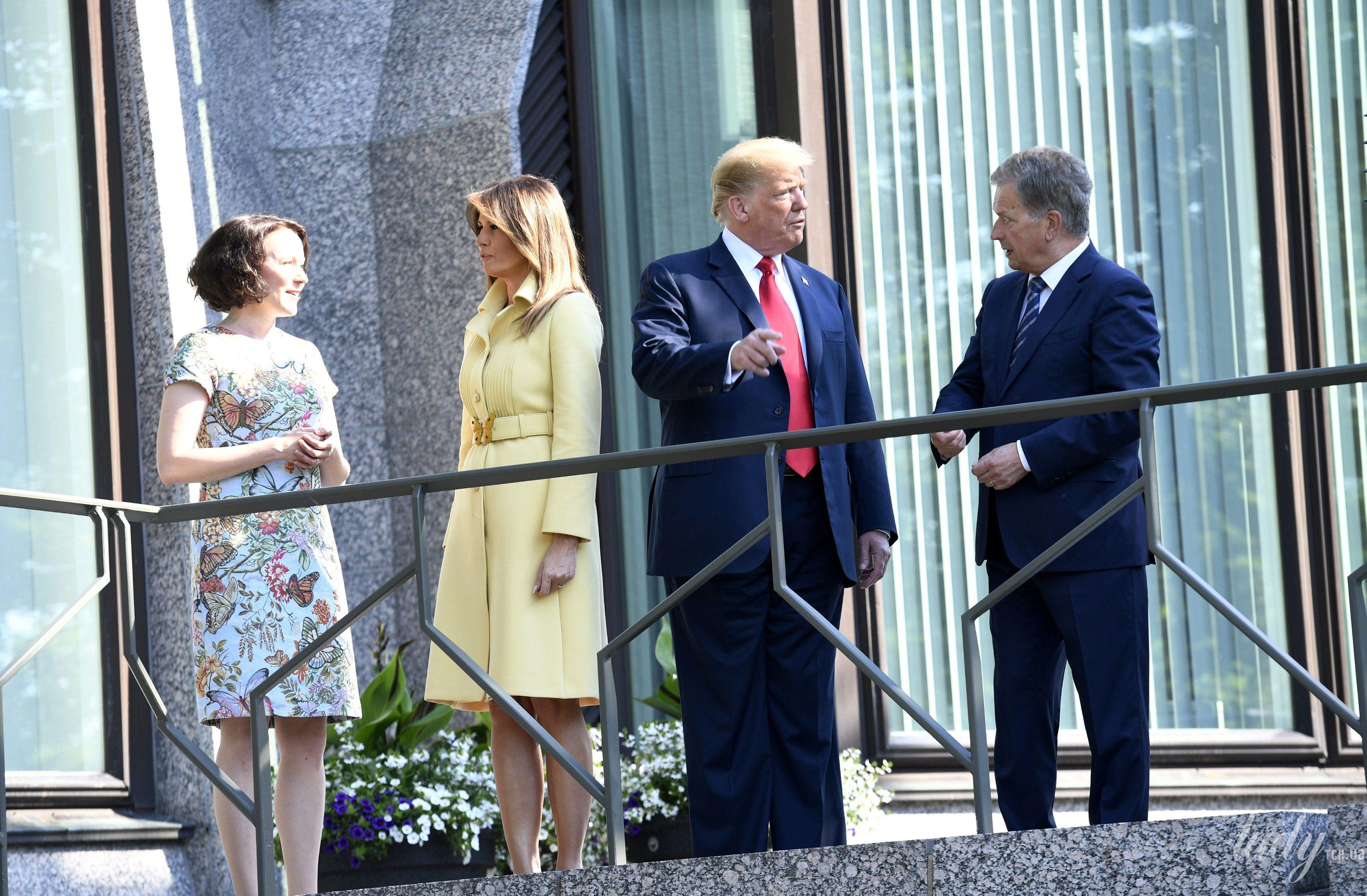 Дональд Трамп, первая леди Мелания Трамп, президент Финляндии Саули Ниинисто, его жена Дженни Хаукио_1