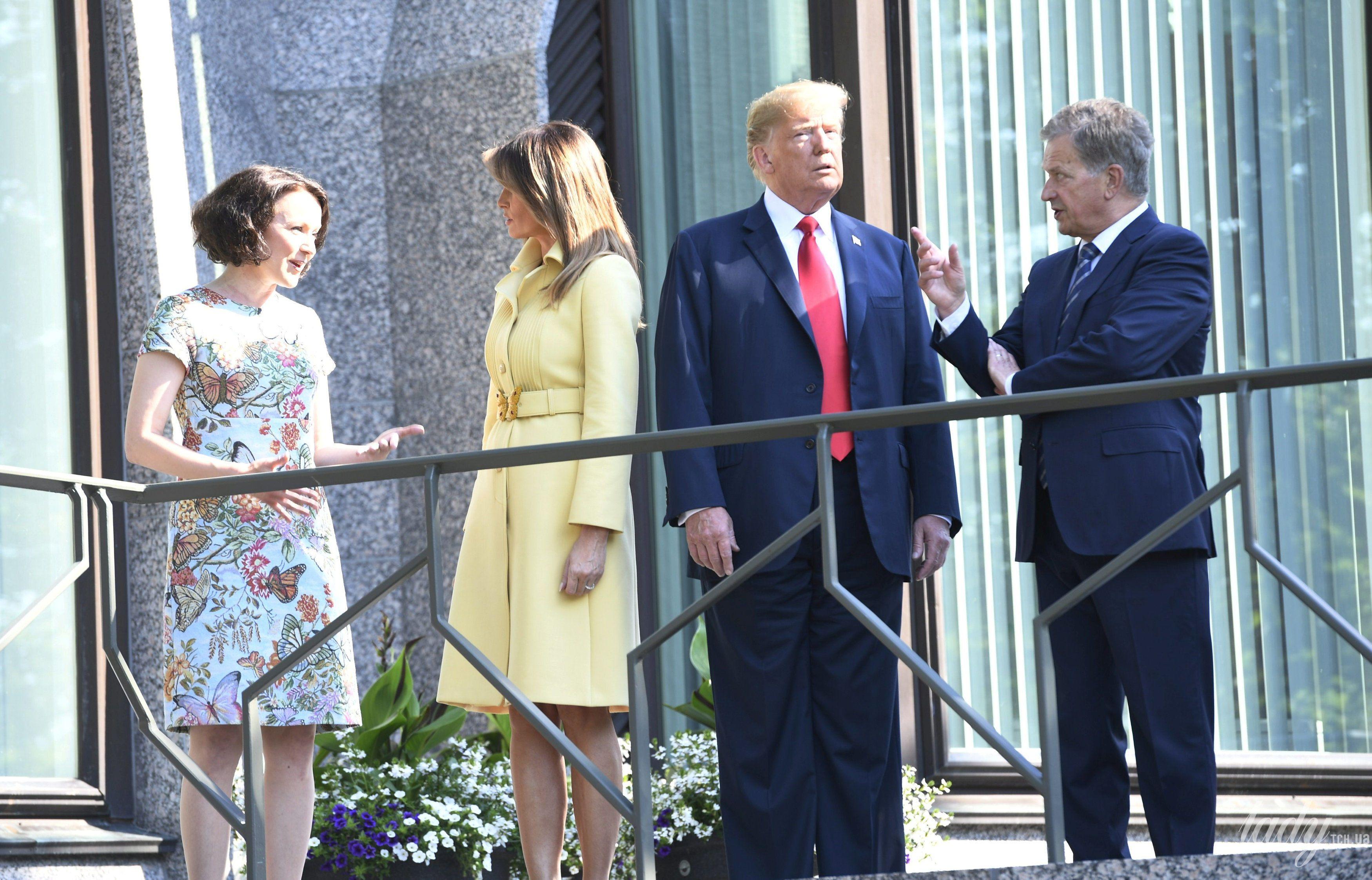 Дональд Трамп, первая леди Мелания Трамп, президент Финляндии Саули Ниинисто, его жена Дженни Хаукио_4