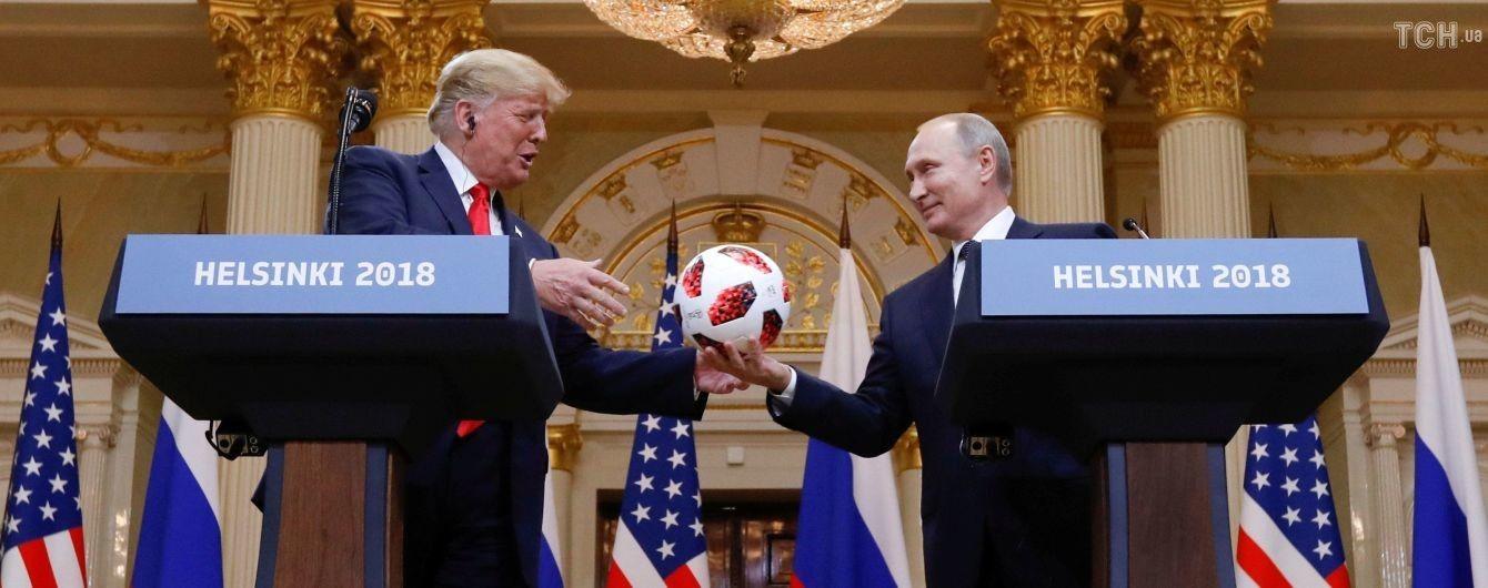 Футбольный мяч, который Путин подарил Трампу, проверит служба безопасности США