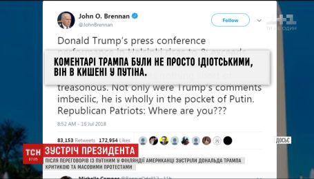 Американцы осудили поведение своего президента на встрече с Путиным