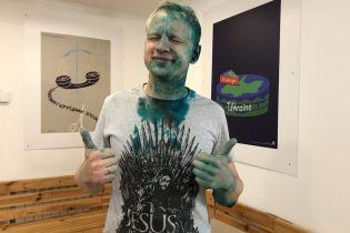 Облитый зеленкой Шабунин получил химический ожог глаз