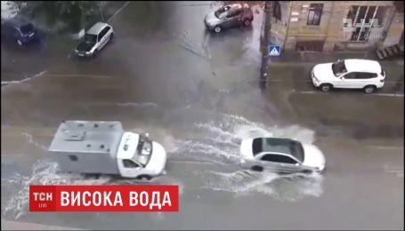 Мощный ливень накрыл Киев