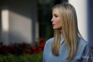 В платье голубого цвета: Иванка Трамп в нежном образе появилась на съемках телепрограммы