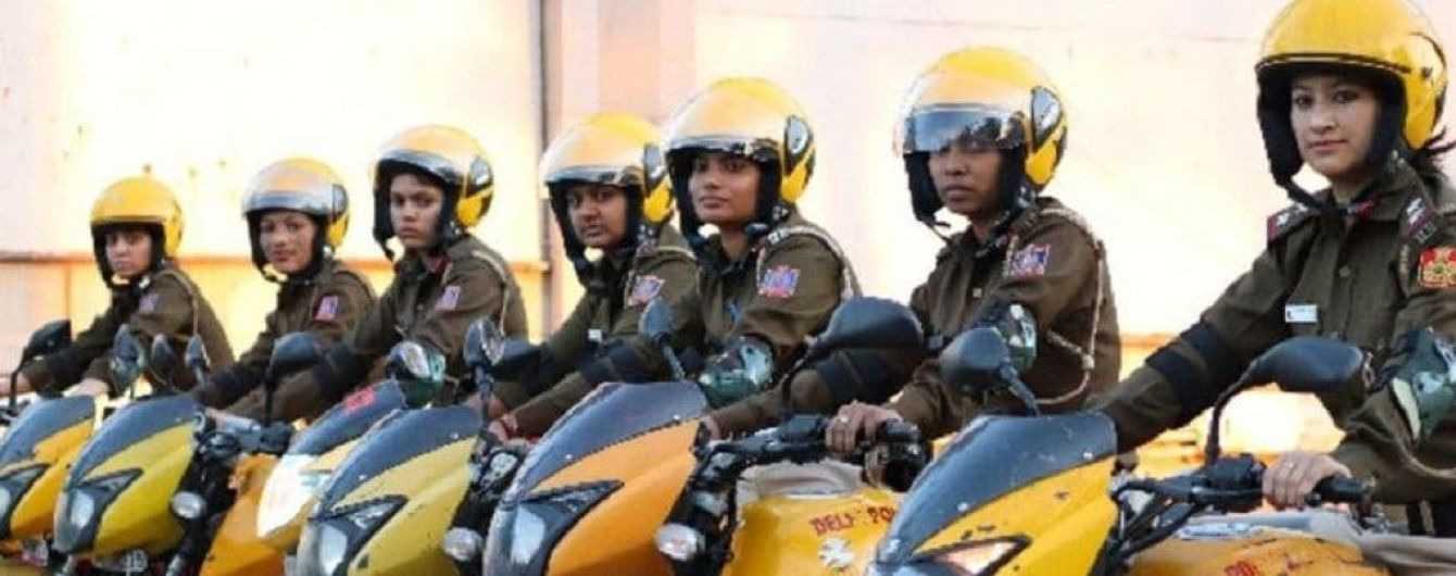 В Індії з'явився загін жіночого патруля на мотоциклах