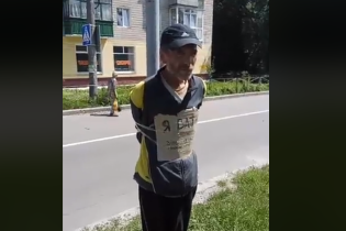 Полиция Чернигова открыла уголовное производство из-за привязанного к столбу мужчины