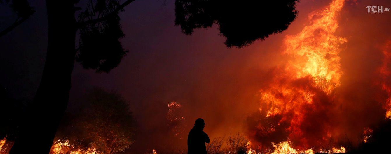 Чоловік, який пережив жахливу пожежу у Греції, зняв на відео неймовірну швидкість поширення вогню