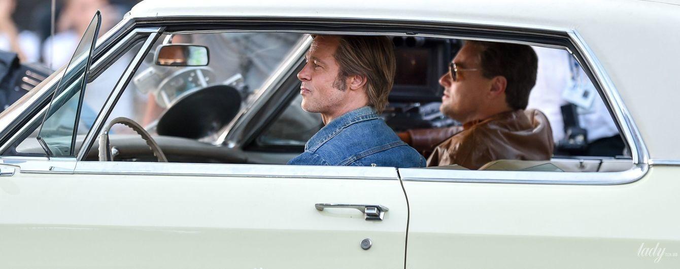Назад в 70-ті: Пітт і Ді Капріо на зніманнях нового фільму Тарантіно в Лос-Анджелесі
