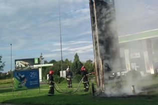 У Львівській області на АЗС спалахнула світлодіодна стела