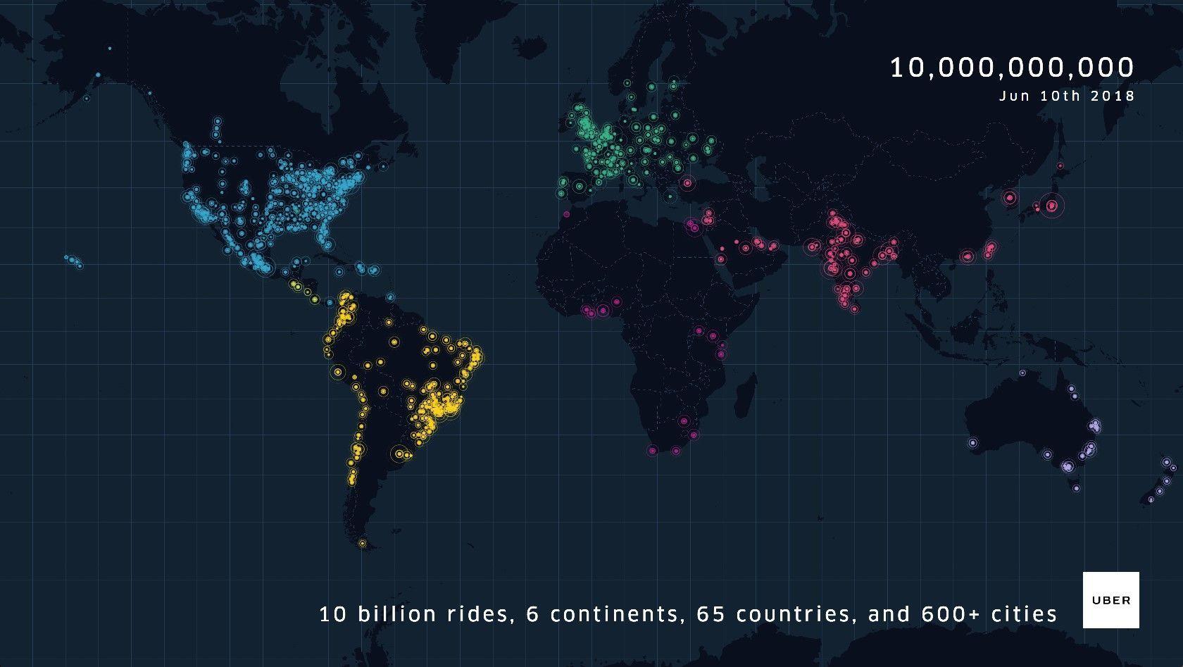 Карта Uber