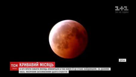Найдовше місячне затемнення століття відбудеться у ніч проти суботи
