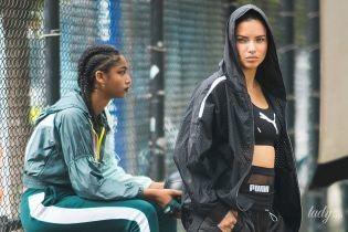 В топі і міні-шортах: Адріана Ліма на зйомках в Нью-Йорку