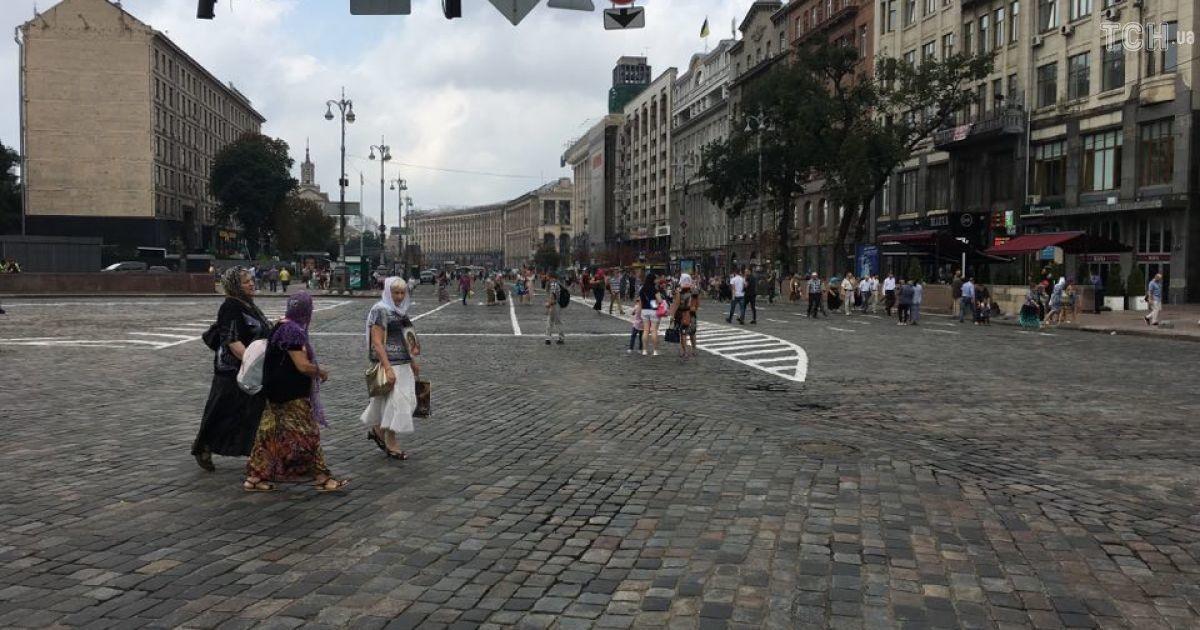 Центральные улицы Киева перекрыты
