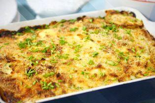 Картофельная запеканка с брынзой