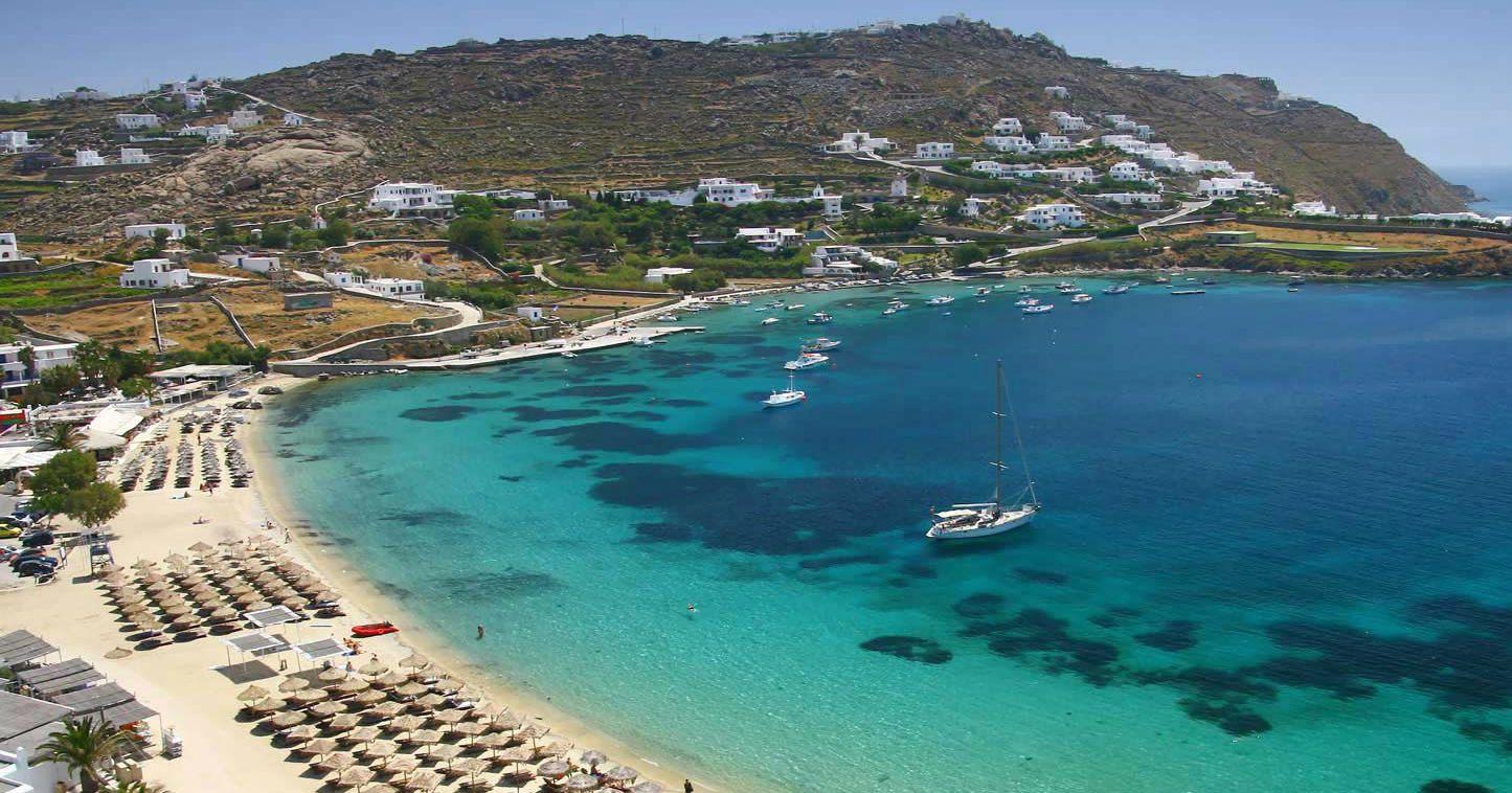 Пляж, море, острів Міконос, Греція