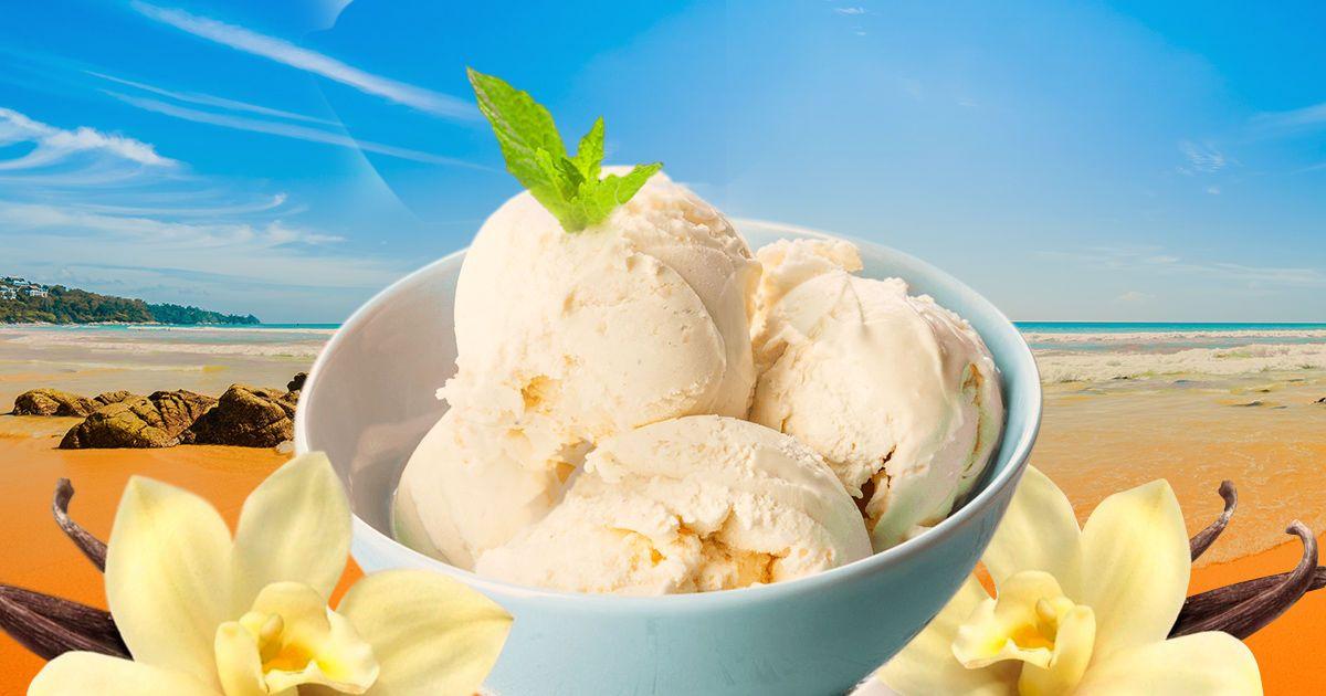 Домашнє ванільне морозиво