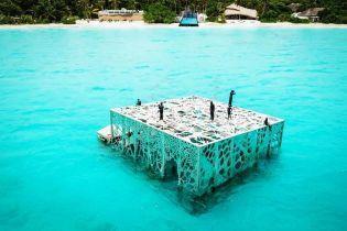 На Мальдивах создали подводную галерею, которую заселят рыбы и моллюски