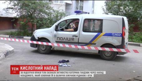 В Херсоне разыскивают неизвестного, который выплеснул кислоту на активистку Екатерину Гандзюк