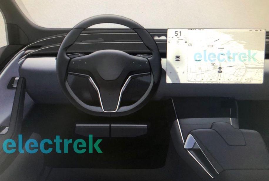 Tesla, інтер`єр, интерьер