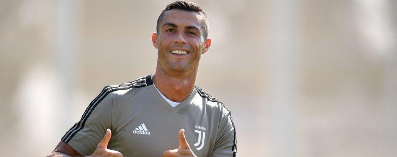 """Роналду отметился эффектным голом на тренировке """"Ювентуса"""" после стенки с перекладиной"""
