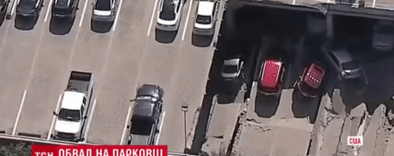 В Далласе обвалилась парковка с десятками автомобилей