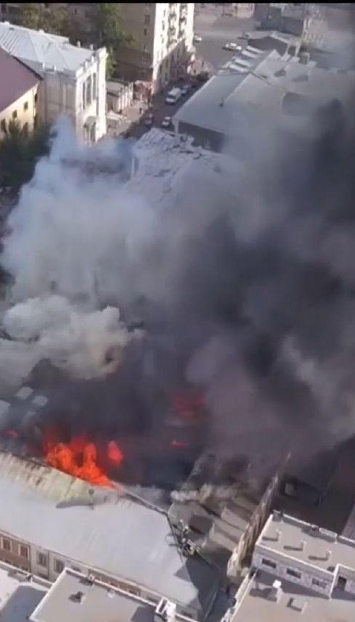 В Харькове загорелся один из корпусов Украинской инженерно-педагогической академии