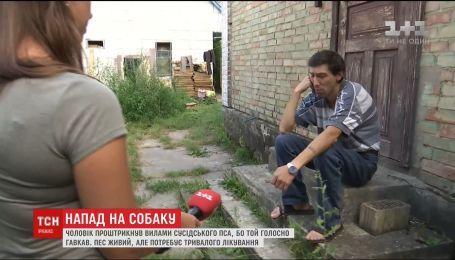 Кара за гавкіт: на Київщині чоловік проник у будинок та штирхнув вилами собаку