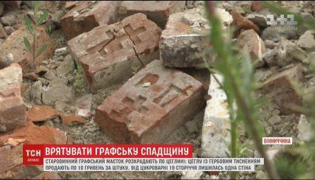 В Винницкой области нелегально разбирают историческую достопримечательность