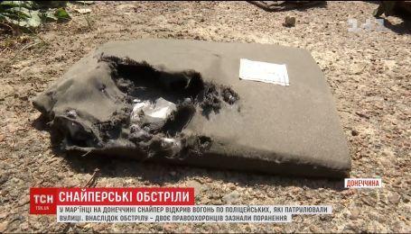 У Мар'їнці снайпер відкрив стрілянину по патрульних серед білого дня